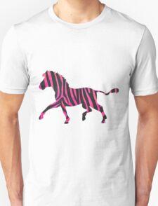 Zebra Black and Hot Pink Print Unisex T-Shirt
