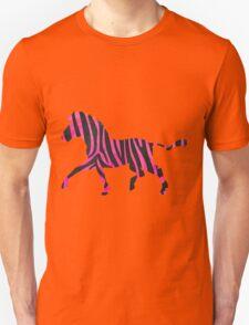 Zebra Black and Hot Pink Print T-Shirt