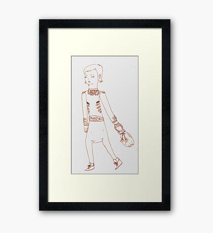 i love the usps girl Framed Print