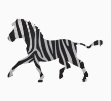 Zebra Black and Light Gray Print by Traci VanWagoner