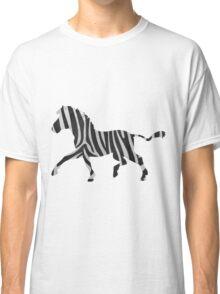 Zebra Black and Light Gray Print Classic T-Shirt