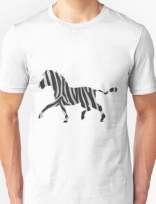 Zebra Black and Light Gray Print Unisex T-Shirt