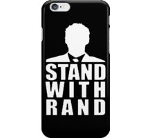Stand With Rand Suit [White] iPhone Case/Skin