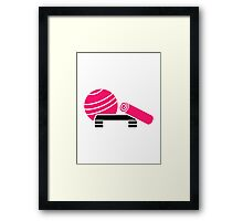 Aerobics equipment Framed Print