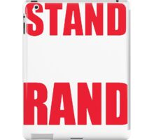 Stand With Rand [Red] iPad Case/Skin