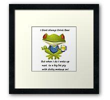 Cocky Froggy Framed Print