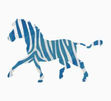 Zebra Blue and White Print Kids Clothes