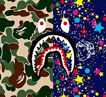 Bape Camo, Billionaire & Shark by bradjordan412