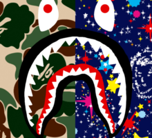 Bape Camo, Billionaire & Shark Sticker