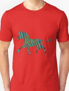 Zebra Brown and Teal Print Unisex T-Shirt