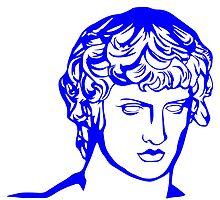 blue antique sculpture by crook-factory
