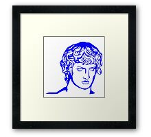 blue antique sculpture Framed Print