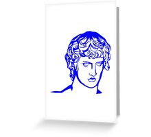 blue antique sculpture Greeting Card