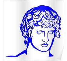 blue antique sculpture Poster