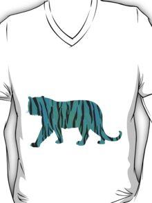 Tiger Black and Teal Print T-Shirt