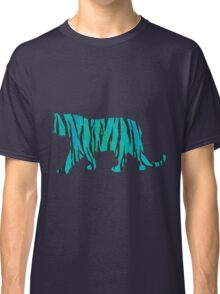 Tiger Black and Teal Print Classic T-Shirt