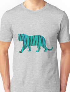 Tiger Black and Teal Print Unisex T-Shirt