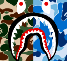 Bape Camo & Shark Sticker