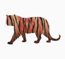 Tiger Hot orange and Black Print by Traci VanWagoner