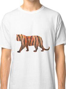 Tiger Hot orange and Black Print Classic T-Shirt