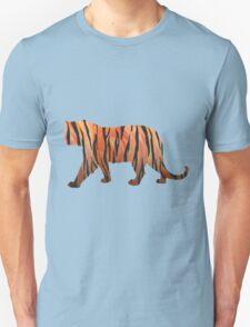 Tiger Hot orange and Black Print Unisex T-Shirt