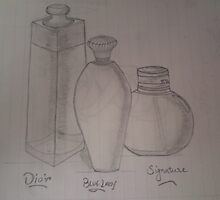 three most popular brand perfumes drawing... by SsR09