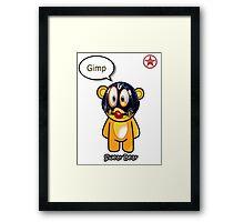 Geek Girl - SwearBear - GIMP Framed Print
