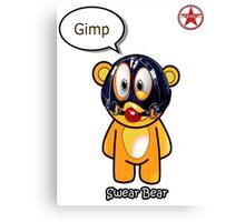 Geek Girl - SwearBear - GIMP Canvas Print