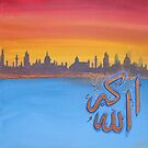 Sunset 'Allah Akbar' by Shahida  Parveen
