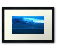 Aqua Storm Framed Print