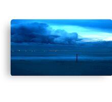 Aqua Storm Canvas Print