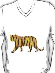Tiger Black and Orange Print T-Shirt