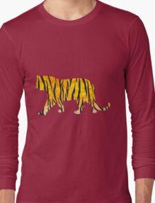 Tiger Black and Orange Print Long Sleeve T-Shirt