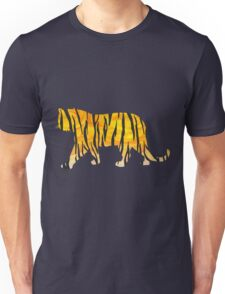Tiger Black and Orange Print Unisex T-Shirt