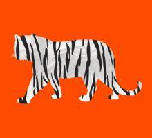 Tiger Black and White Print Kids Tee