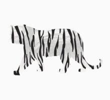 Tiger Black and White Print Kids Clothes