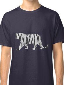 Tiger Black and White Print Classic T-Shirt