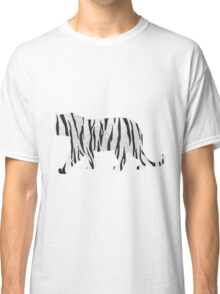 Tiger Black and White Print Classic T-Shirt