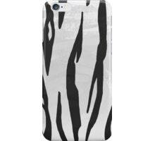Tiger Black and White Print iPhone Case/Skin