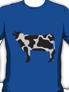 Cow Black and White Print T-Shirt