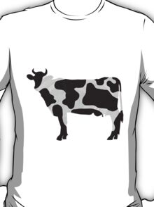Cow Black and White Print T-Shirt
