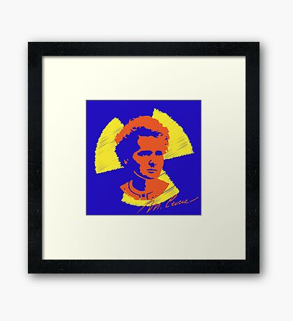 Frock Star Marie Curie Framed Print