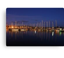 Hobart Night View Canvas Print