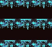 Rolling Stones Black and Blue - Design 3  by Kevin J Cooper