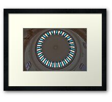 Stained Glass Circle Framed Print
