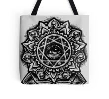 Eye of God Flower Mandala Tote Bag