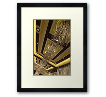 Golden Jewels and Gems - Sparkling Crystal Chandeliers  Framed Print