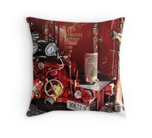 Rear of Old Fire Truck 1 Throw Pillow