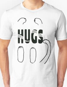 Whimsical Cat Paw Hugs Unisex T-Shirt