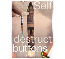 Self destruct buttons Poster